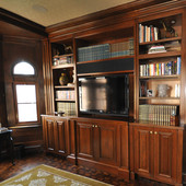 Paneled Room, built-in: stained cherry.